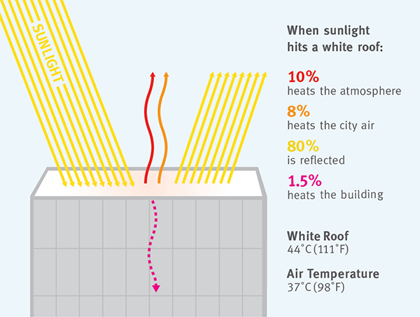 Going Green With White Roofing Chesapeake Roofers Roof